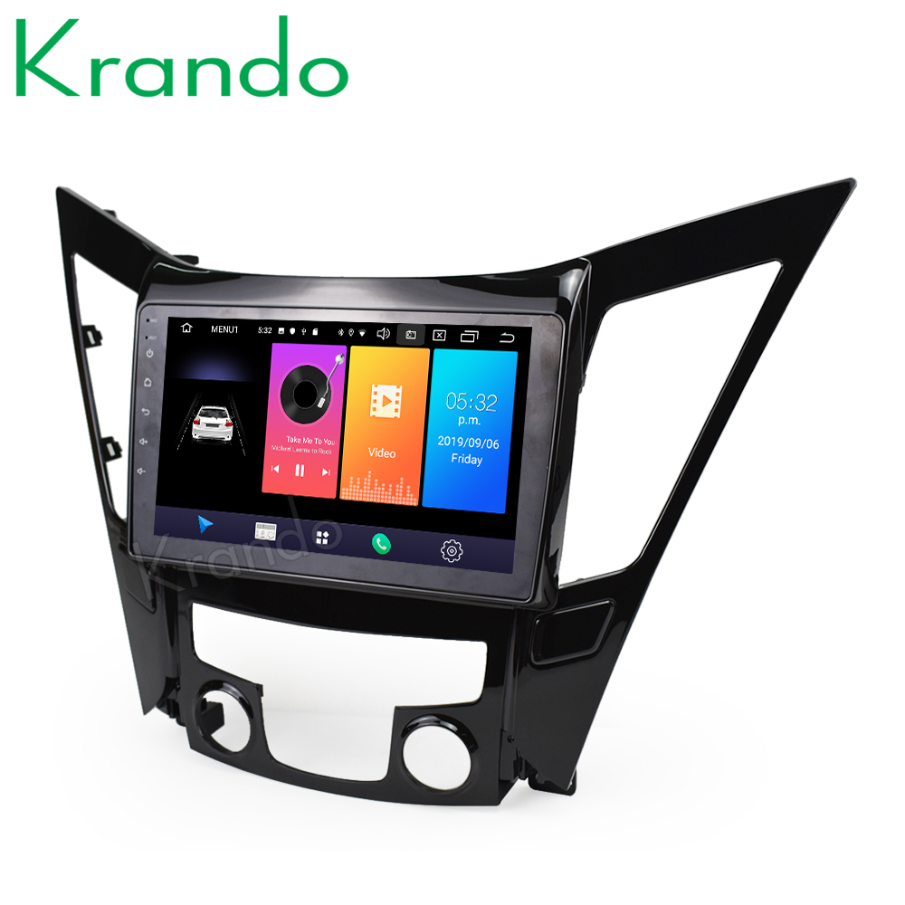 Krando Android 9.0 9 IPS Big Screen Full touch car Navigation system for Hyundai Sonata 8 2012-2015 radio player gps image