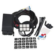 6 Gang Switch Panel Relè Elettronico Sistema di Circuito di Controllo Scatola Dei Fusibili Impermeabile Scatola Relè Cablaggio Assemblee Per Auto Auto