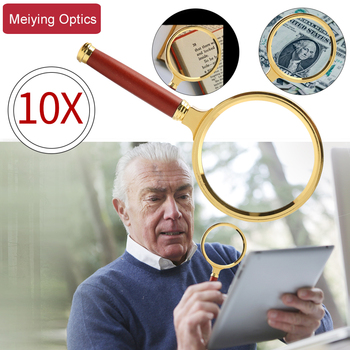 10X Portable Handheld HD Reading Magnifier Glass Eye Loupe Magnifying Glass Magnifier for Reading Jewelry