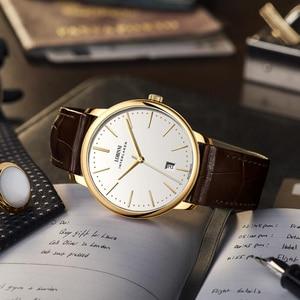 Image 2 - Switzerland relojes LOBINNI para hombre, cronógrafo mecánico Manual de Marca de lujo, Venus, L12028 4 de zafiro para hombre