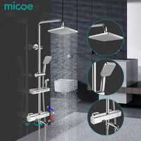 Micoe dusche set smart thermostat kupfer wasserhahn große bereich wasser jet top spray ABS einzelne funktion dusche düse bad mischer