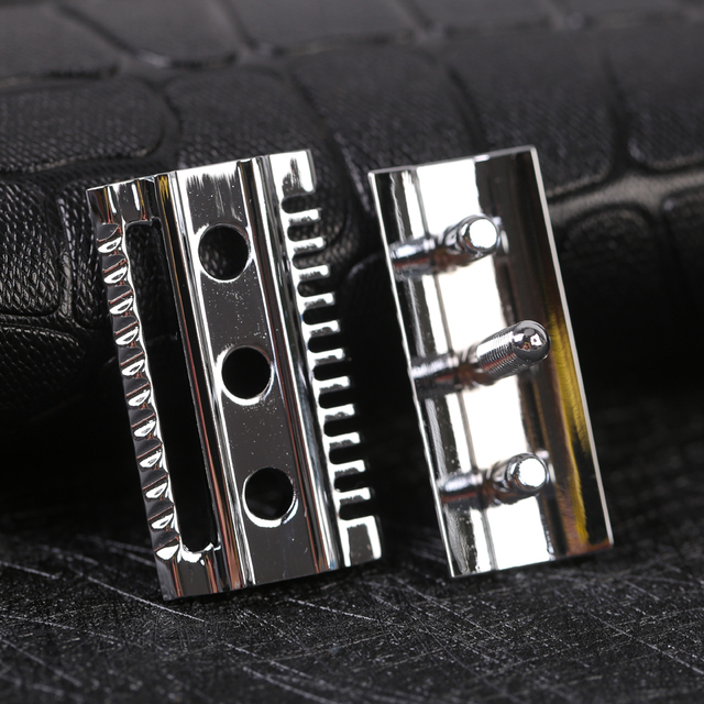 """""""The """"FLIPSIDE by Yaqi"""" A Dual Comb Dual Aggression Level Razor Head In Chrome 4"""