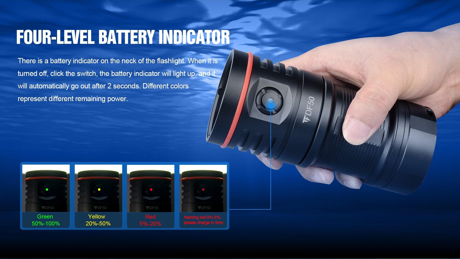 lumen fotoraphy luz subaquática 100m iluminação alta brilhante led tocha