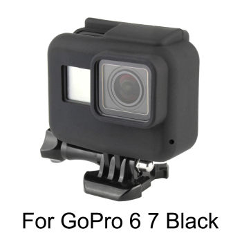 Soft Silicone Case Skin for GoPro Hero 5 6 7 Black Protective Frame Cover for Go Pro 7 Hero 6 5 Action Camera Accessory puluz camera soft silicone protective case with lens cap cover for gopro hero 5 black camera for gopro action camera accessories