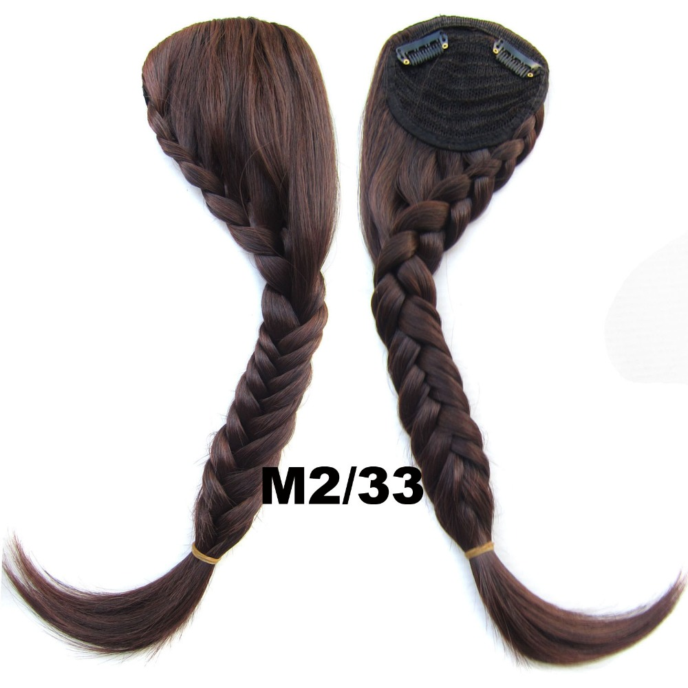 Clip on Hair Extension Synthetic Braided Bangs  Bride Oblique Fringe Bangs Tails Fase Hiarpieces (1pc)