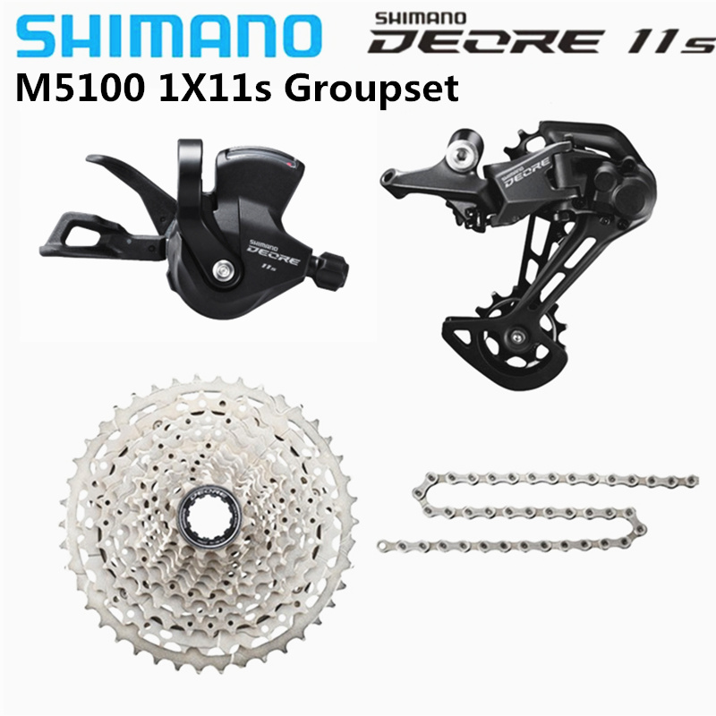SHIMANO 2020 NEW DEORE  M5100 SX M7000 1x11 Speed Groupset MTB Mountain Bike Contains Shift Lever Rear Dearilleur Cassette Chain-0
