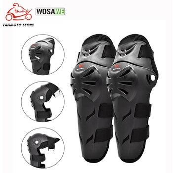 WOSAWE Adult Skiing Motorcycle Knee Pads Moto Protection Riding Guard Motocross Motorbike Off-Road Racing MTB