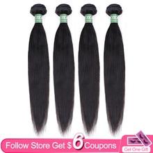Aircabin Gerade Haar Bundles 8-30 32 Zoll Brasilianische 100% Remy Menschenhaar Extensions 1/3/4 Stück Natürliche Farbe Haar weben
