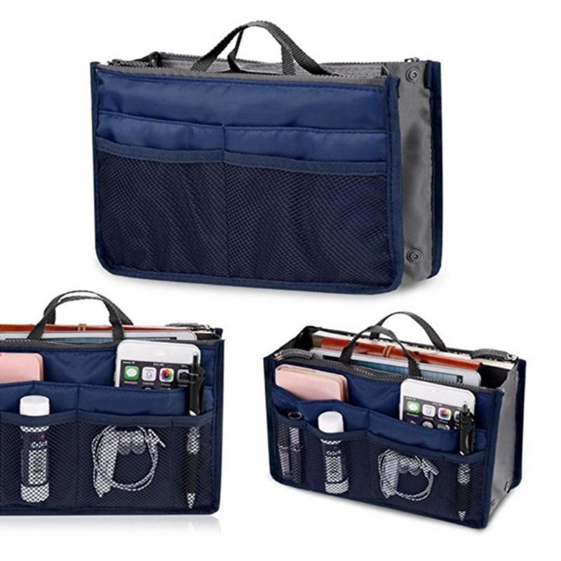 Multi-function Purse Large Liner Lady Make Up Organizer Cosmetic Bag Travel Wash Storage Handbags Women Nylon Travel Insert