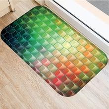 מוכתם זכוכית איור החלקה מחצלת בית חדר שינה קישוט רך שטיח מטבח סלון החלקה דלת מחצלת 40x60cm