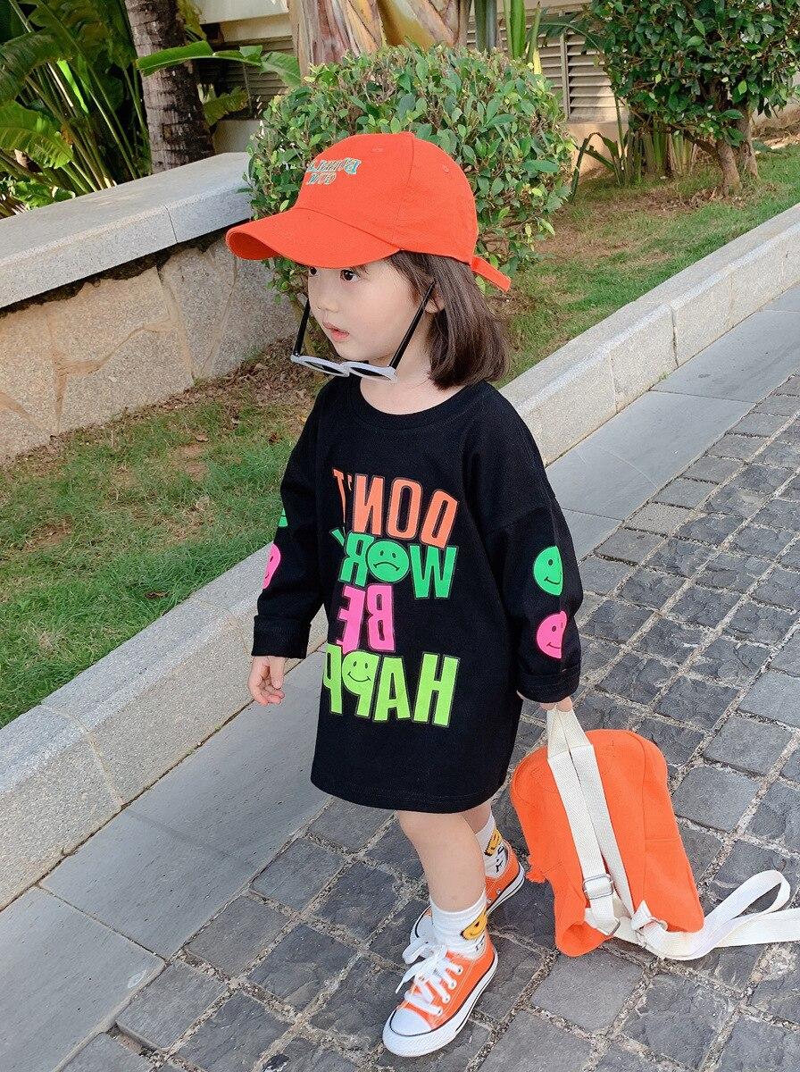 2020 Kids Clothes Girl Children Spring Autumn Long Sleeve Casual Print Cotton Dress 4