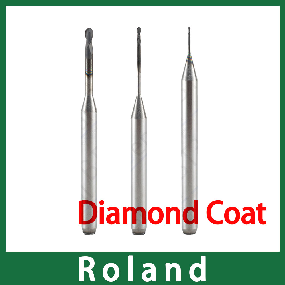 1pcs CVD Diamond Coat Milling Bur For Roland CADCAM System With Long Service Time