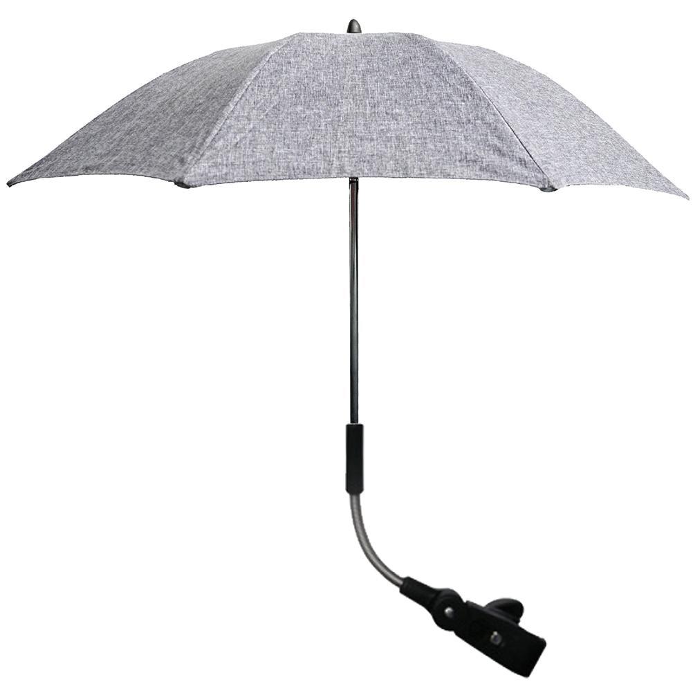 Anti UV 50+  Universal Pushchair Umbrella Folding Pushchair Umbrella with Adjustable Removable Support Flexible Baby Umbrella