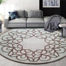 Круглые ковры из шерсти в скандинавском стиле для гостиной, Толщина 15 мм, круглые коврики для спальни, мягкие коврики для чайного стола