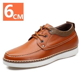 Męskie skórzane buty buty na koturnie buty podnoszące wysokość buty męskie wyższe buty trampki buty na wysokim obcasie skórzane buty tanie i dobre opinie Yeinshaars CN (pochodzenie) PRAWDZIWA SKÓRA Skóra bydlęca RUBBER 5788 Sznurowane Dobrze pasuje do rozmiaru wybierz swój normalny rozmiar