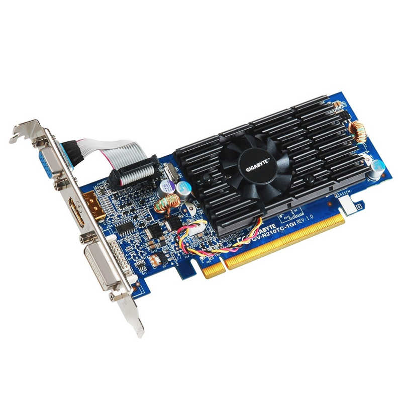 Gigabyte G210 1GB بطاقة الفيديو NVIDIA GT G 210 GT210 1GB DDR3 بطاقات الرسومات GPU حاسوب شخصي مكتبي شاشة الكمبيوتر خريطة ATX MATX HTPC VGA