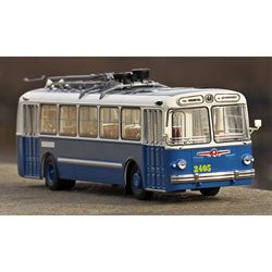 Масштабная модель 5 бело-синий 1:43 Classicbus автобус игрушка ретро советский
