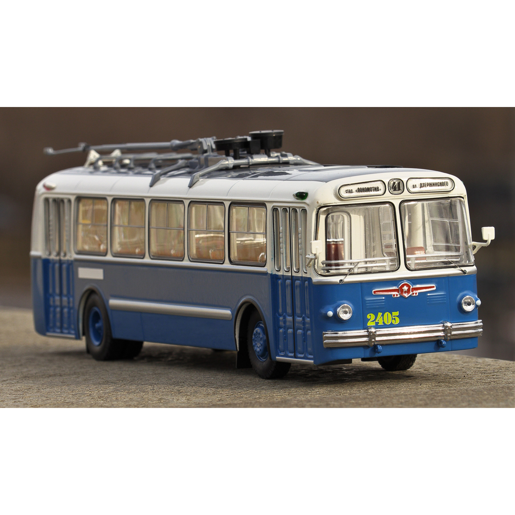 Scale Model 5 White And Blue 1:43 Classicbus Bus Toy Retro Soviet