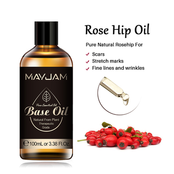 100ml Pure Natural Rose Hip Oil Skin Care Base Essential Oils Whitening Moisturizing Rosehip Oil Remove Acne Freckle Treatment rose soap 100% natural handmade 120g hair skin beauty whitening moisturizing cleaner antibacterial acne treatment