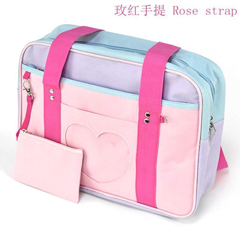 2019 Summer New Style Casual Diaper Bag Anime Cartoon Square Sling Bag Contrast Color Nylon