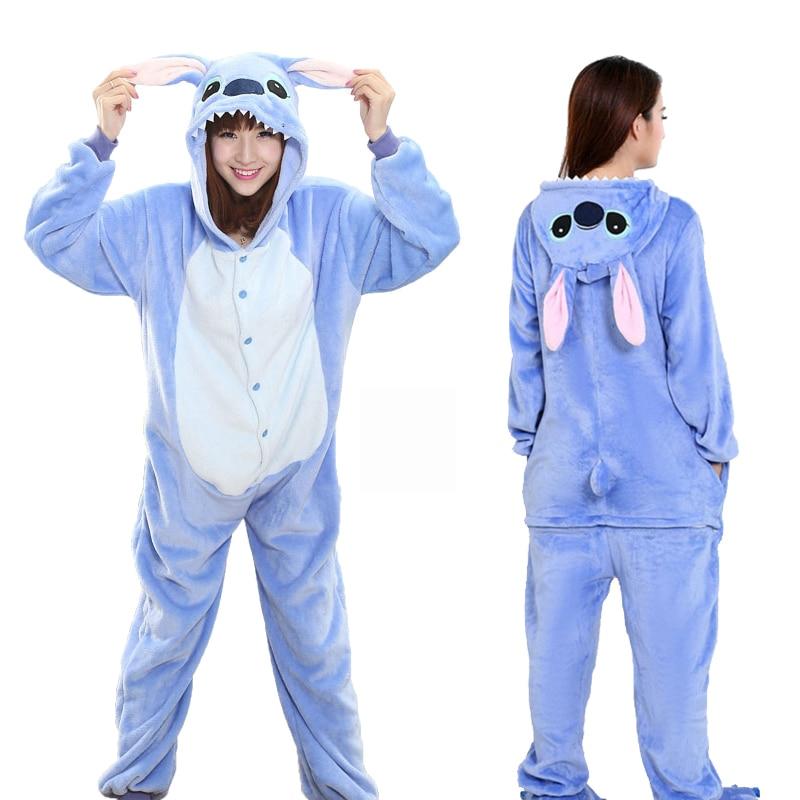 Unicorn Pajamas Stitching Adult Animal Onesie Women Men Couple 2020 Winter Stitch Pajamas Suits Cat Pajamas Flannel Pajamas