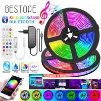 Hohe-ende Bluetooth RGB LED Streifen Licht SMD 5050 Flexible Band 2835 LED Licht 20M-5M klebeband Diode DC12V Bluetooth Musik Steuerung