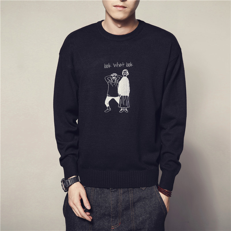 Sweater Male Fashion Vintage New Style Mens Sweaters And Pullovers Casual New Autumn Sweater M-5XL Pullover Knitted Cartoon