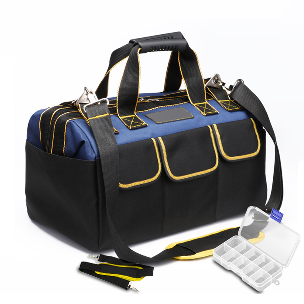 Waterproof Large Capacity Tool Bag Electrician Bag Multifunction Repair Installation Canvas Thicken Tool Bag Work Pocket 4 Size