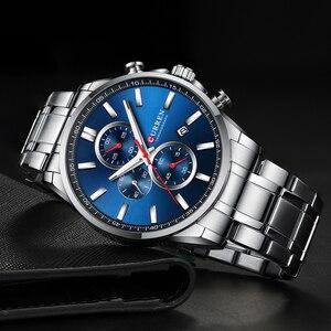 Image 3 - 2019 新CURRENトップブランドの高級メンズ腕時計自動日付時計男性スポーツ鋼腕時計メンズクォーツ腕時計レロジオ Masculino