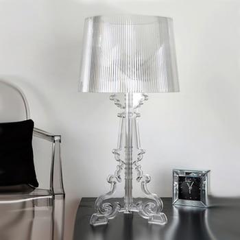 Modern Clear Acrylic Table Lamp Living Room Bedroom Bedside lamp Table light Indoor Lighting  fixture Home Study Desk Light