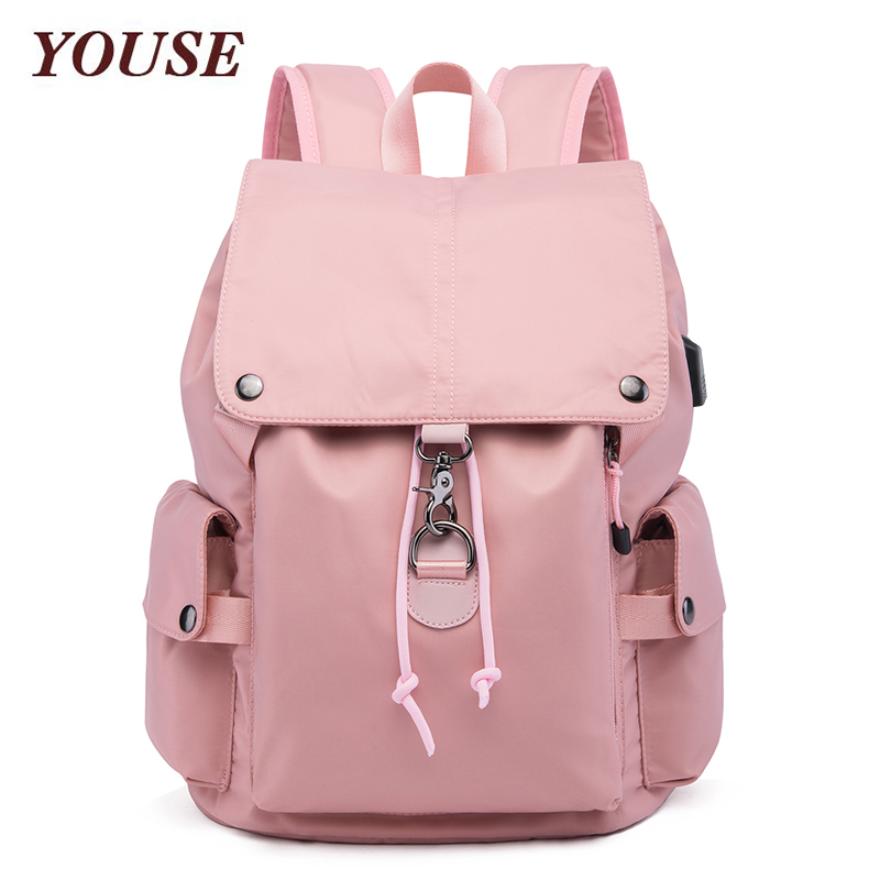 YOUSE New- Style Backpack Men's Korean Leisure Travel Schoolbag Nylon Waterproof Women's Backpack