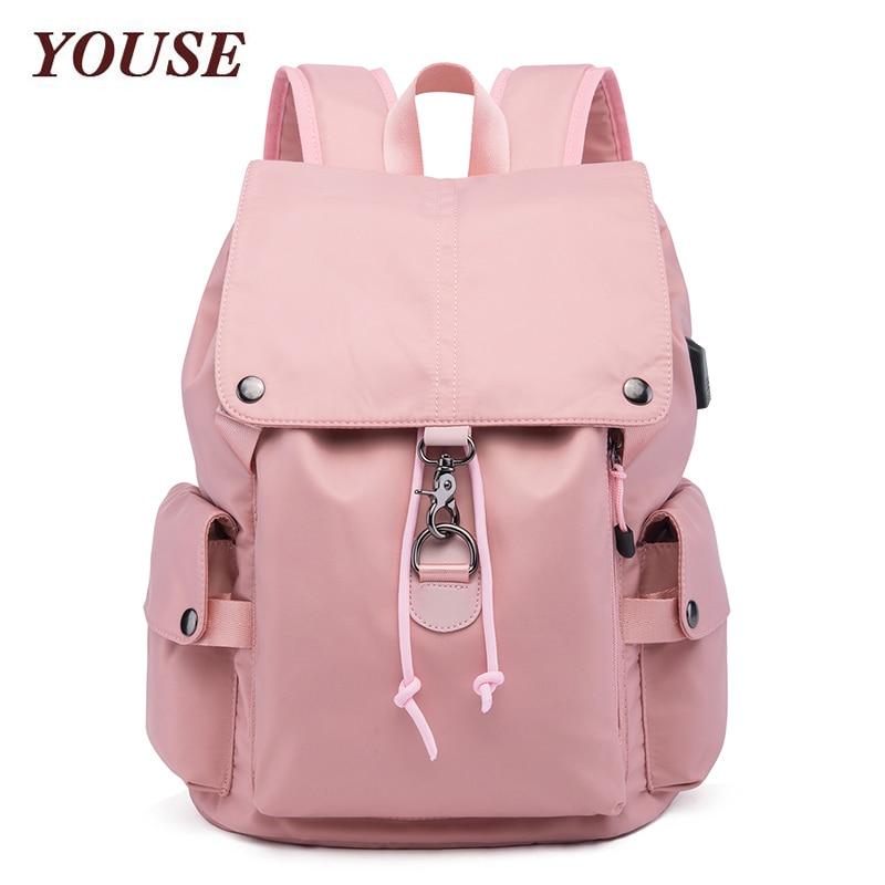 YOUSE New- Style Backpack Men's Korean Leisure Travel Schoolbag Nylon Waterproof Women's Backpack