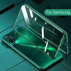 Image 1 - Manyetik adsorpsiyon Flip telefon kılıfı için Samsung A51 A21s A71 A30s A50 M30s S20 Ultra arka kapakları Samsung S 20 artı bir 51 kabuk çanta