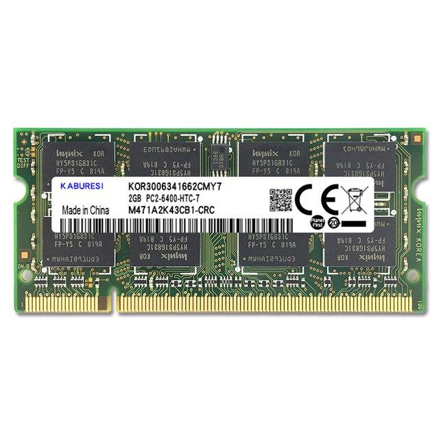 Kaburesi 4 go (2x2 go) DDR2 PC2-5300 667mhz PC2-6400 800mhz 4 go (Kit de 2,2x2gb pour double canal) mémoire Ram ordinateur portable