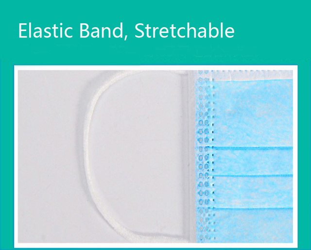 20 pcs/Bag Disposable mask 3-Layer Non-woven Disposable Elastic Mouth Soft Breathable Maternity Face Mask 2