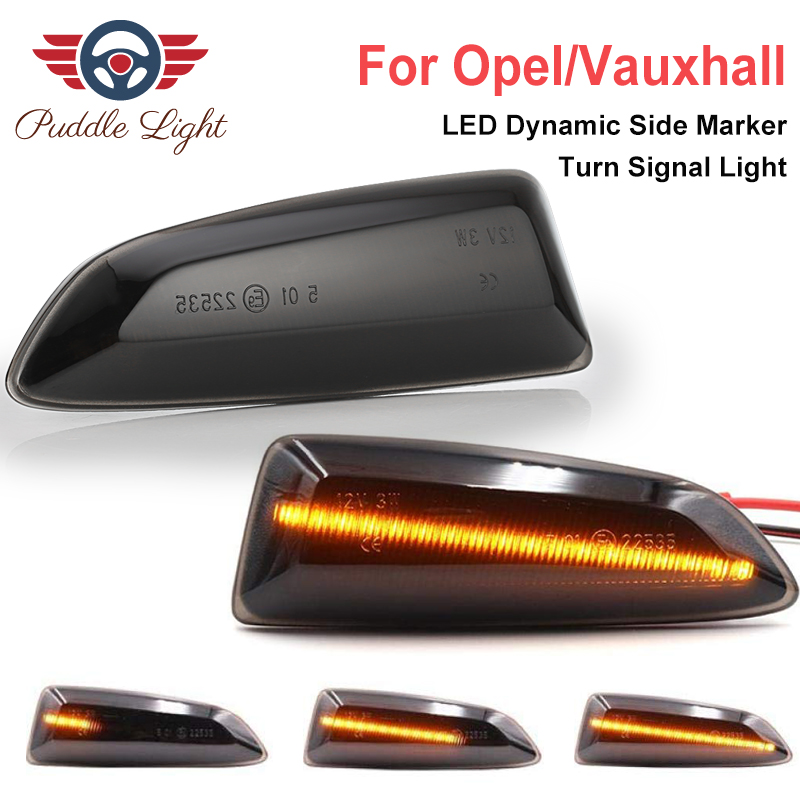 2Pcs <font><b>Led</b></font> Dynamic Side Marker Turn Signal Light For Crossland Grandland X Opel <font><b>Astra</b></font> <font><b>J</b></font> K Zafira Tourer Tourer C Buick Regal image