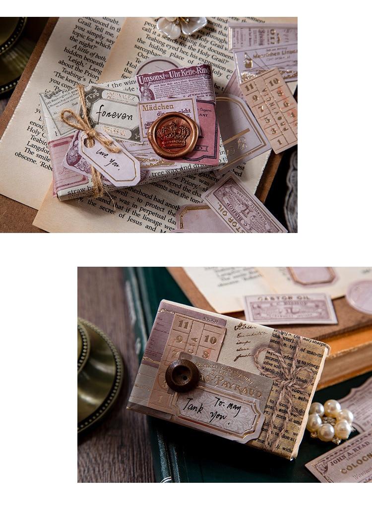Adesivo retrô para decoração de diário, adesivo