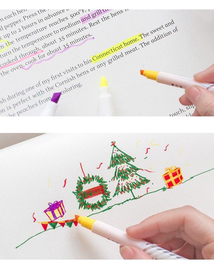 3 setlote Magia cor fluorescente highlighter pen