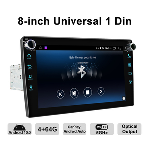 Image 5 - JOYING Android 10.0 head unit 8 inch IPS 1280*720 4GB+64GB car radio player GPS Navigation stereo RDS  DSP support 4G&Carplay&BT