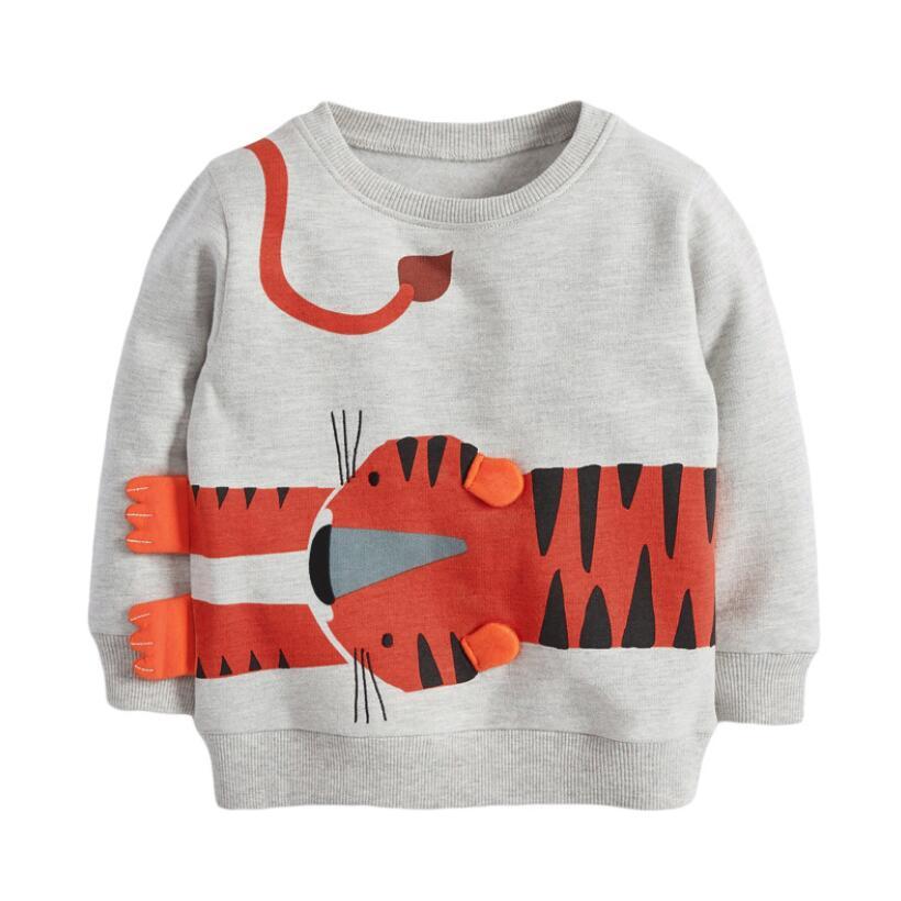 Little Maven 2021 Autumn Boy Brand Clothes Children Hoodies & Sweatshirts Boy Cotton Sweater Animal Print Kids Sweatshirts 51775 3
