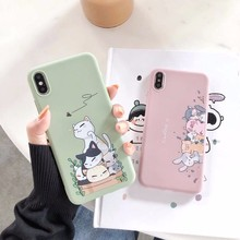 Soft Silicone Phone Case For IPhone 7 8 Plus X XS 6 6S Cute Cartoon Fun Comic Small Animals Cover