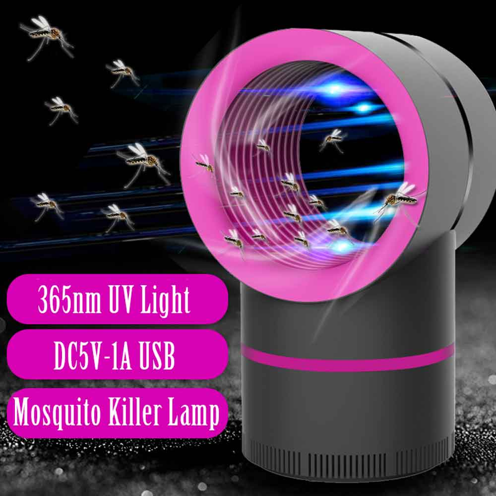 UV Mosquito Killer Lamp USB Powered Trap Muggen Insect Killer Electric Bug Zapper Anti Mosquito Fly Outdoor Led Lights Dropship