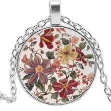 2019 New Hot Fashion Henna Yoga Necklace Glass Convex Round Buddhist Pendant Art Mandala Flower Pendant...