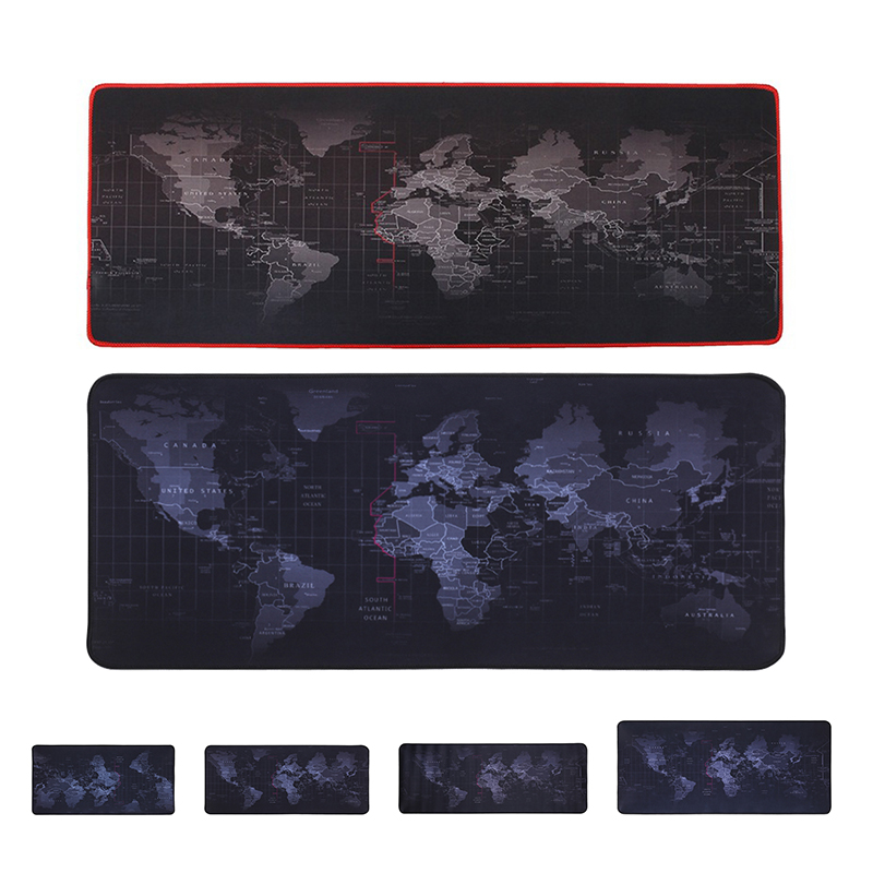 Large Mouse Pad Gamer Big Mouse Mat Gaming Mouse Pad Computer Mousepad Rubber Surface World Map Game Mause Pad Keyboard Desk Mat
