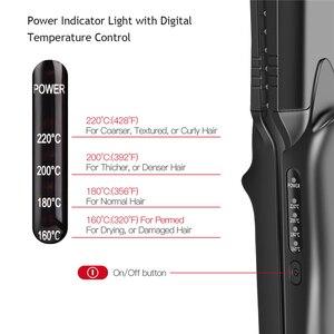 Image 5 - 4 ב 1 שיער קרלינג ברזל + חום עמיד כפפת קרמיקה שיער Curler רולר שיער חשמלי מחליק מלחץ גלי תלתל 42