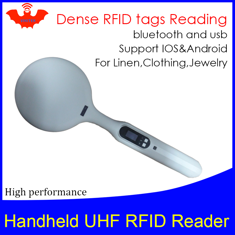 UHF RFID Handheld Reader Dense Tags Reading Portable Encoder Bluetooth Linen Clothing Jewelry Inventory Scanner Writer Copier