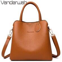 Nowe 3 główne kieszenie skórzane luksusowe torebki damskie torebki projektant kobiet torby Croosbody dla kobiet mała torba na ramię Sac A Main
