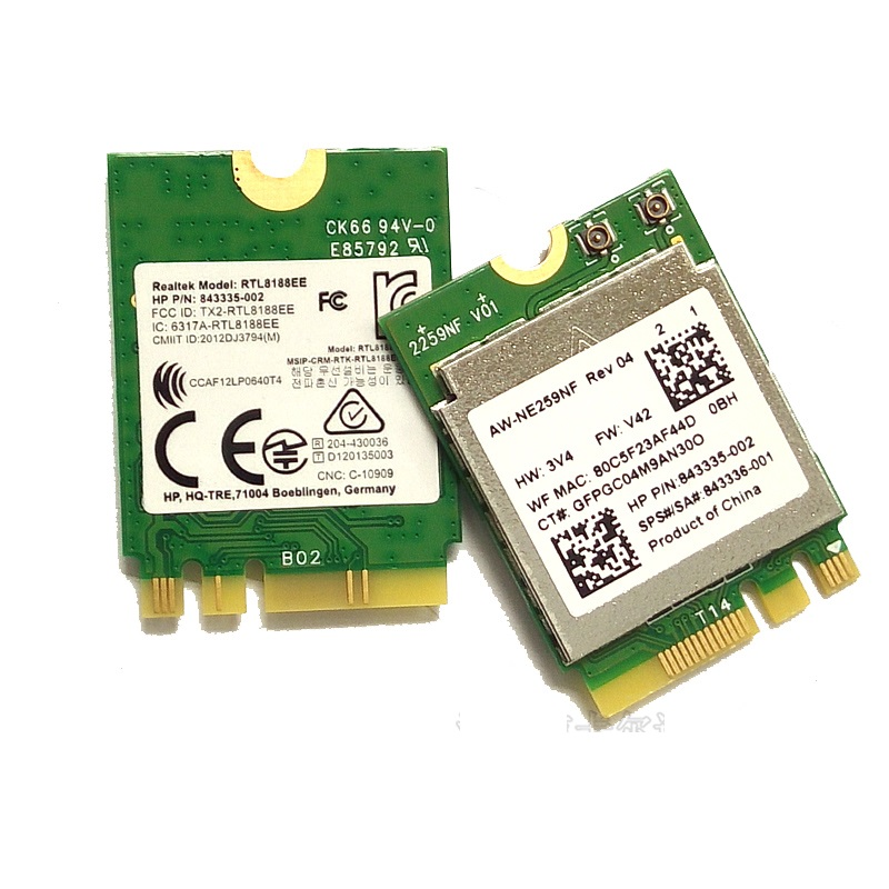 SSEA Wireless RTL8188EE NGFF M.2 Wi-Fi Network Card 802.11b/g/n For HP SPS 843336-001