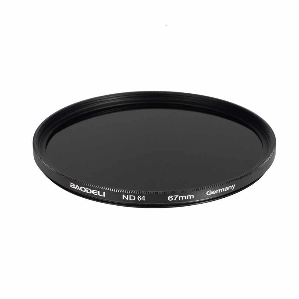 BAODELI Neutral ความหนาแน่น Nd1000 Nd64 Nd8 กรอง 49 52 55 58 62 67 72 77 82 Mm สำหรับเลนส์กล้อง canon Nikon D5100 D5600 Sony อะไหล่