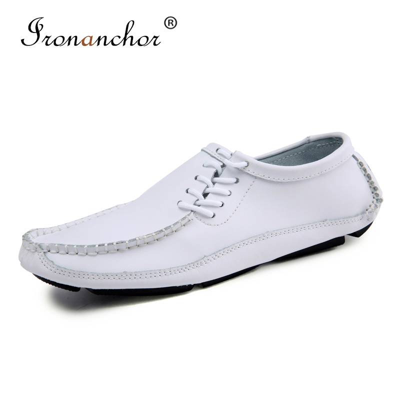 2019 Male Loafers Genuine Leather Fashion Driving Casual Shoes Flat Men Moccasins #NR5882
